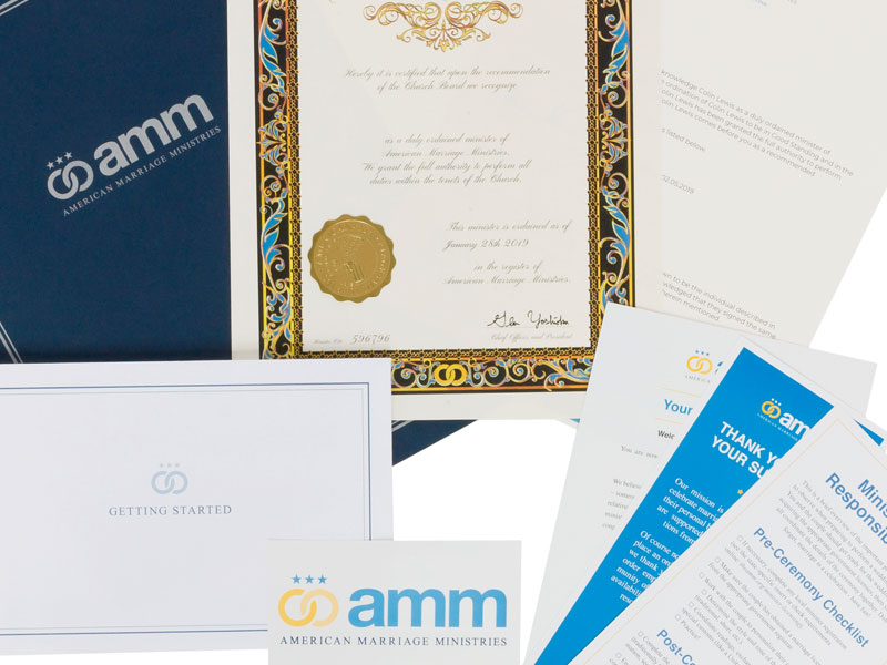AMM Minister Ordination Package